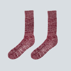 UNIVERSAL WORKS-MARL SOCK-RED