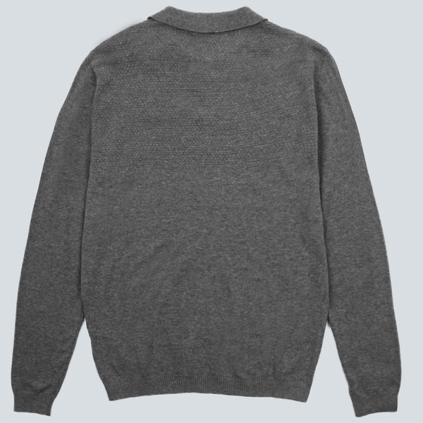 Kestin Hare-Mantle Long Sleeved Polo-Grey Marl