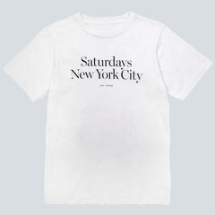 SATURDAYS NYC - MILLER STANDARD TEE - WHITE