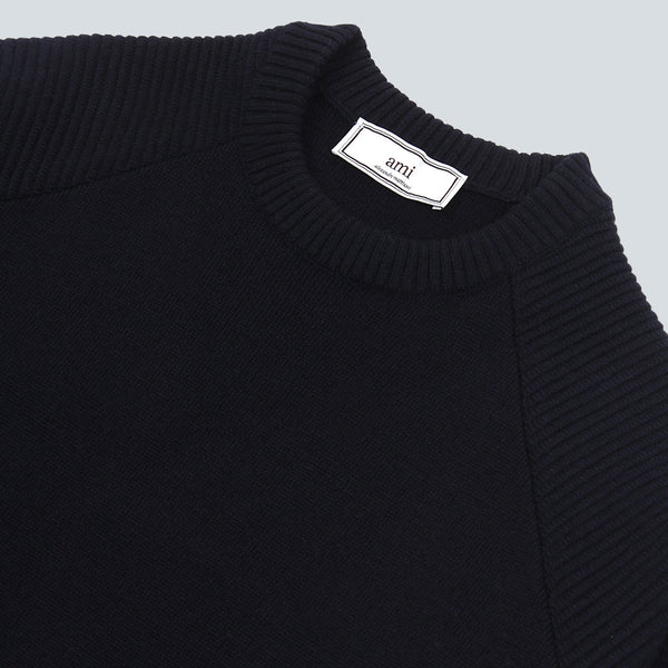 AMI - KNITWEAR CREW NECK - NAVY