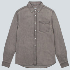 SATURDAYS NYC - WASHED COTTON DENIM SHIRT - WASHED BLACK