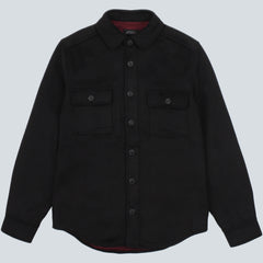 SATURDAYS NYC - JEREMIAH CPO OVERSHIRT - BLACK