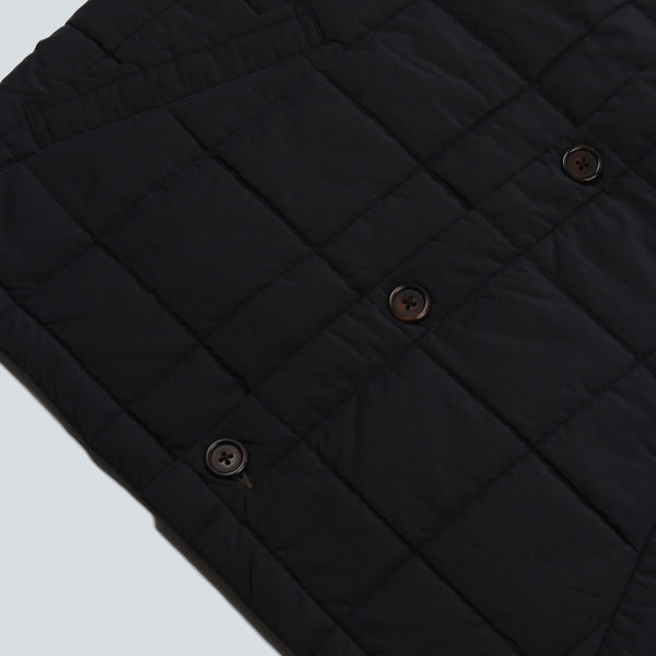 UNIVERSAL WORKS-QUILTED GILET NAVY