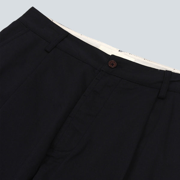 UNIVERSAL WORKS-PLEAT PANT-NAVY