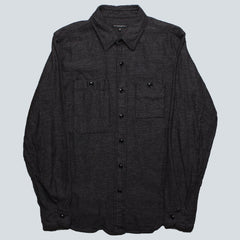 Engineered Garments Work Shirt - Grey/Black Broken Twill