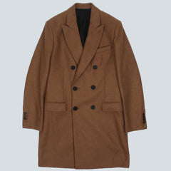 AMI Oversized Wool Blend Coat - Tan