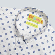 Sunny Bell Studios - Oxford Shirt - White Diamond Print