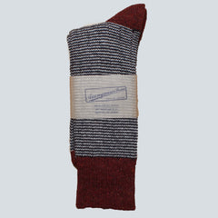 ANONYMOUS ISM-PATTERN SOCKS - NAVY/RED/GREY