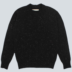 UNIVERSAL WORKS-LOOSE FISHERMAN JUMPER-CHARCOAL