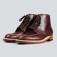 alden indy boot - brown chromexcel - front on