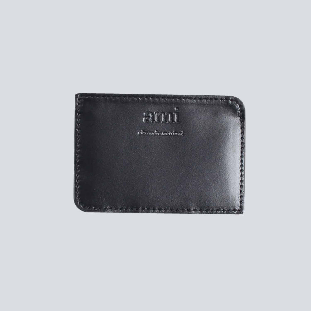 AMI - Smooth Leather Card Holder - Black