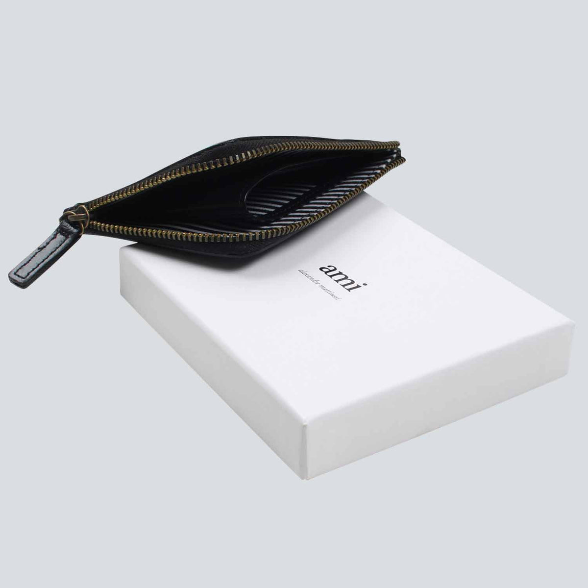 AMI - Smooth Leather Wallet  - Black