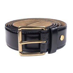 AMI - CLASSIC LEATHER BELT - BLACK