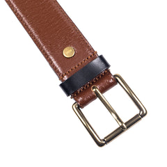 AMI - Classic Leather Belt - Cognac