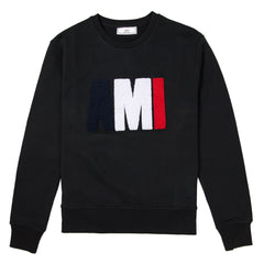 AMI - CREW NECK SWEATSHIRT - BLACK