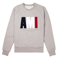 AMI - CREW NECK SWEATSHIRT - GREY