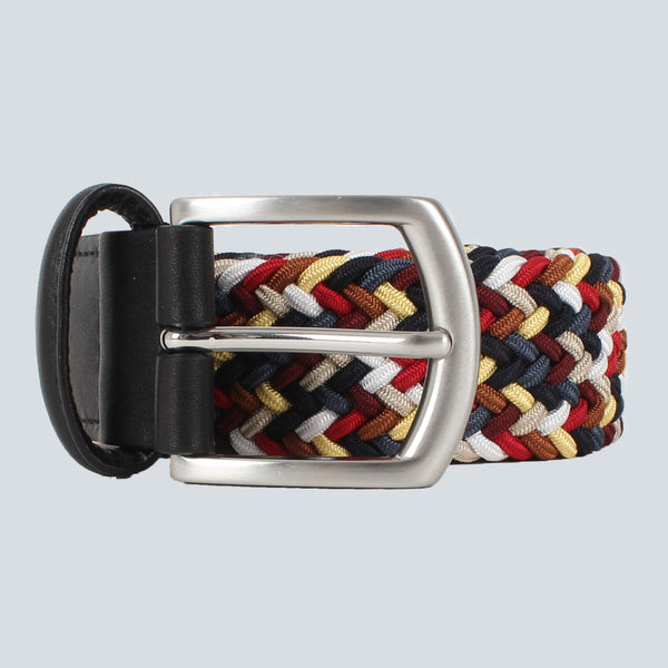 ANDERSONS - TEXTILE WOVEN BELT - RED / BLUE / YELLOW