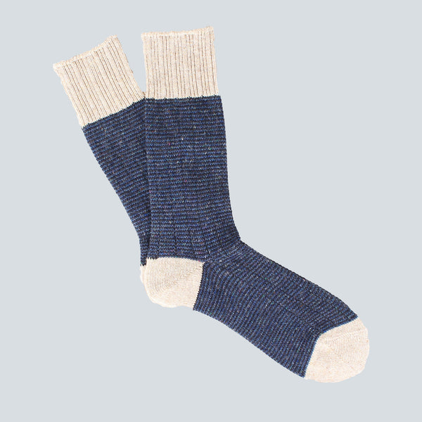 ANONYMOUS ISM COLOUR MIX EDGE SOCKS - NAVY
