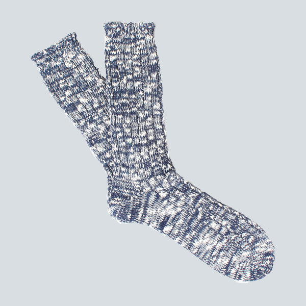 ANONYMOUS ISM-COLOUR MIX SOCKS-NAVY