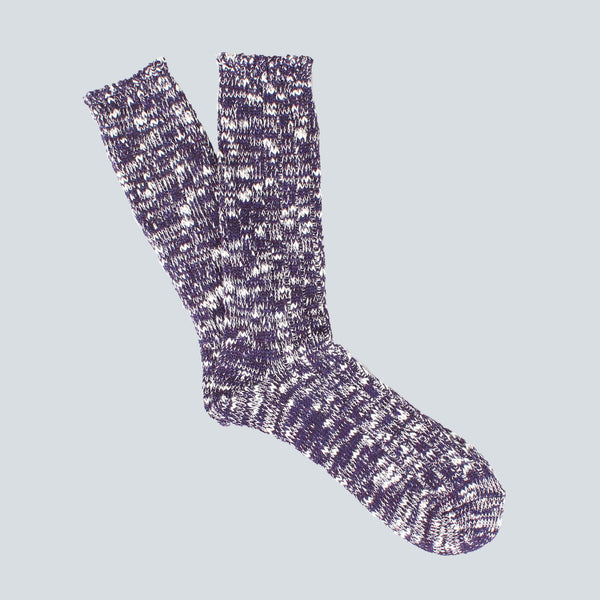 ANONYMOUS ISM-COLOUR MIX SOCKS-PURPLE