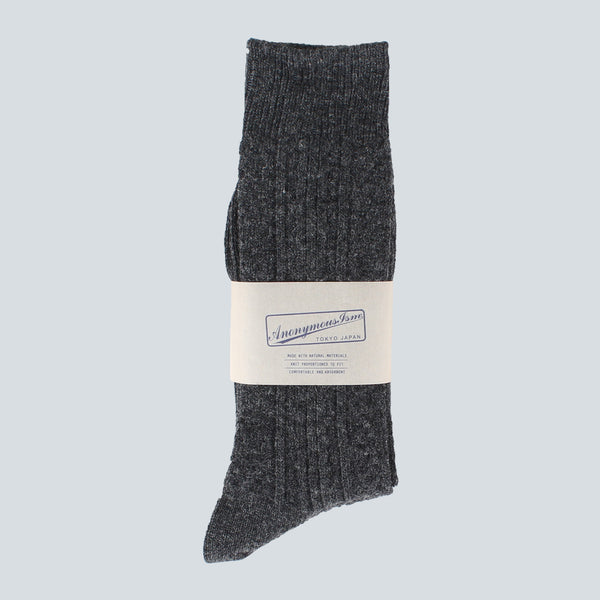 ANONYMOUS ISM-WOOL SOCKS-CHARCOAL
