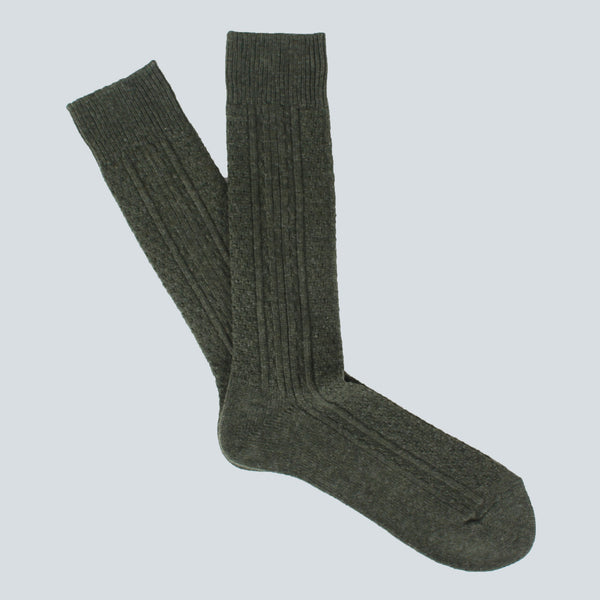 ANONYMOUS ISM-WOOL SOCKS-MOSS GREEN