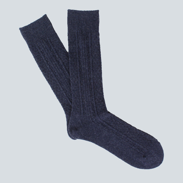 ANONYMOUS ISM-WOOL SOCKS-NAVY