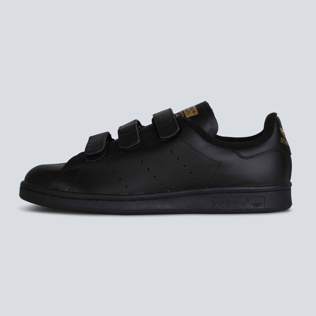 pretty nice 3f454 7f99c ... best price adidas originals stan smith cf black black gold 6ec03 24728