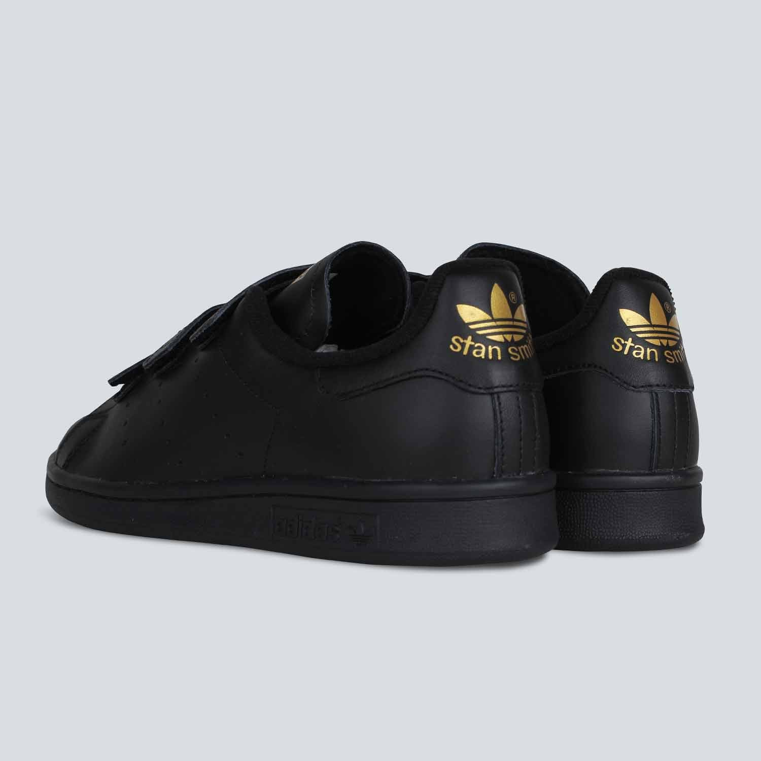 on sale 03781 6b677 ... best price adidas originals stan smith cf black black gold 49674 1dfab