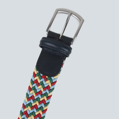 Anderson's - Woven Textile Belt - Red/Green/Sky Blue