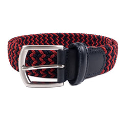 Anderson's - Woven Textile Belt - Red/Navy