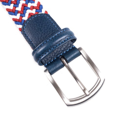 ANDERSON'S - WOVEN TEXTILE BELT - RED/WHITE/BLUE