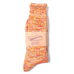 ANONYMOUS ISM - CREW SOCK - ORANGE MIX