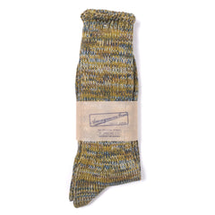 ANONYMOUS ISM - CREW SOCK - OLIVE MIX