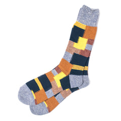 ANONYMOUS ISM - CREW SOCK - COLOUR BLOCK YELLOW