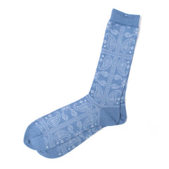 ANONYMOUS ISM - CREW SOCK - LIGHT BLUE PATTERN