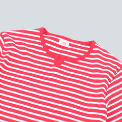 ARMOR-LUX - BRETON T-SHIRT - RED / MILK