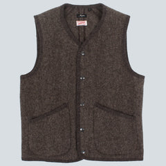 Arpenteur Bonneval Wool Melton Vest - Dark Grey