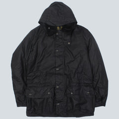 BARBOUR-BEATTOCK WAX JACKET-NAVY