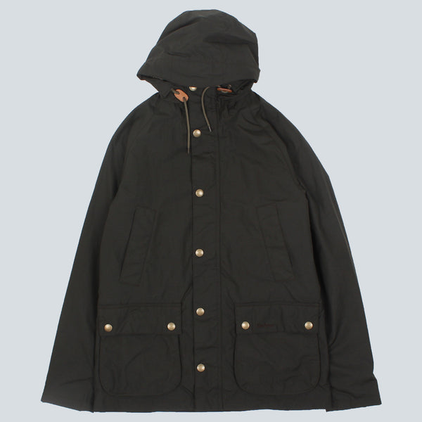 BARBOUR-HOODED BEDALE JACKET-SAGE GREEN