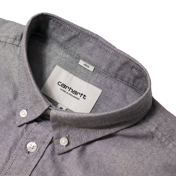 CARHARTT - L/S BUTTON DOWN POCKET SHIRT - BLACK