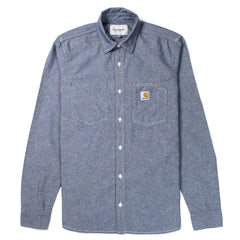 CARHARTT - L/S STATE SHIRT - BLUE RINSED