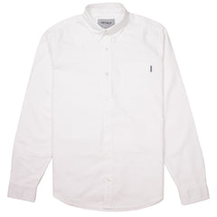 CARHARTT - L/S BUTTON DOWN POCKET SHIRT - WHITE
