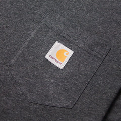 CARHARTT - S/S POCKET T-SHIRT - BLACK HEATHER