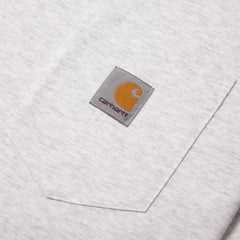 CARHARTT - S/S POCKET T-SHIRT - ASH HEATHER