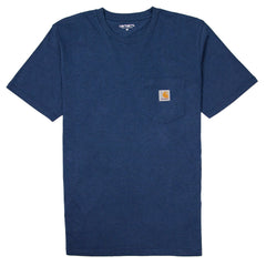 CARHARTT - S/S POCKET T-SHIRT - BLUE HEATHER