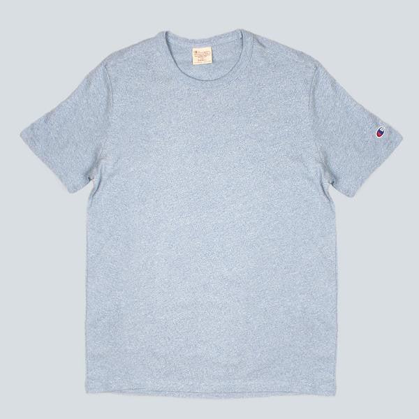 CHAMPION-CREWNECK T-SHIRT-LIGHT BLUE
