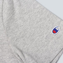 CHAMPION-CREWNECK T-SHIRT-HEATHER GREY