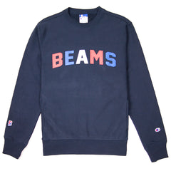 CHAMPION - BEAMS CREWNECK SWEATSHIRT - NAVY