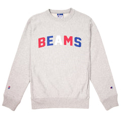 CHAMPION - BEAMS CREWNECK SWEATSHIRT - OXFORD GREY